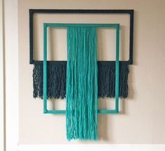 This series of wall hangings is made with yarn wrapped frames. These wall hangings are all made with wool or cotton yarn. Macrame Wall Hanging Diy, Macrame Art, Macrame Projects, Yarn Wall Art, Diy Wall Art, Diy Wall Decor, Diy Room Decor Videos, Crochet Wall Hangings, Macrame Patterns