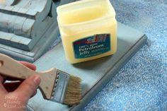 DIY Aged Chippy Paint Technique with Vaseline
