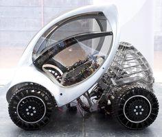 Prototype for an electric folding car.  Whoa.