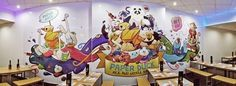 Printed mural for a noodle bar in Birmingham. on Behance