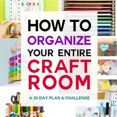 Learn how to transform your mess into an organized craft room with this free challenge filled with tips, tricks, advice, and tutorials! Craft Organization, Craft Storage, Storage Ideas, Stamp Storage, Closet Organization, Organization Ideas, Fantasy Warrior, Diy And Crafts Sewing, Crafts To Sell