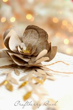 Craftberry Bush: Christmas Paper Flower Tutorial