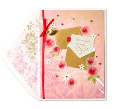 Front view of love card