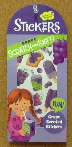 Grape Scented Scratch n' Sniff Stickers: $1.99. For more information or to check availability, call or email Polka Dots. 916-791-9070. polkadotsproshop@gmail.com