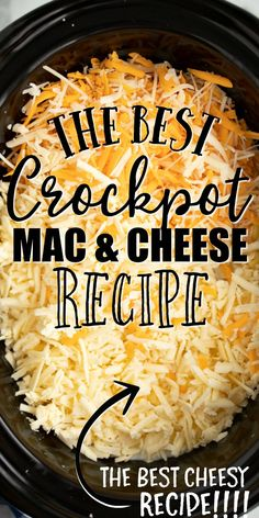 This homemade crockpot mac and cheese recipe comes together beautifully in your slow cooker. This is no ordinary crockpot mac and cheese recipe because it's extra creamy and full of flavor thanks to a Crock Pot Recipes, Crockpot Dishes, Slow Cooker Recipes, Cooking Recipes, Crockpot Recipes Pasta, Crockpot Party Food, Chicken Recipes, Crockpot Mac N Cheese Recipe, Mac Cheese Recipes
