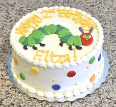 Very Hungry Caterpillar Birthday Cake