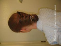 French Braid Variation Hair Tutorial, adorable hair do for when you are feeling a little more mature.