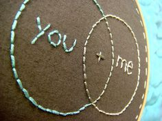 you+me #embroidery #hoop