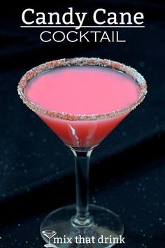 The Candy Cane Cocktail is fabulous