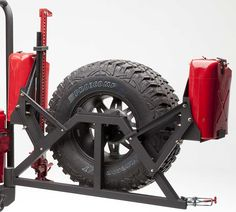 Rear Swing Arm, Jerry Can Racks