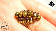 Learn how to make Martell Ring,beautiful pattern that doesn't require too much beading skills.I am using regular beads with Czech crystals for a perfect co...