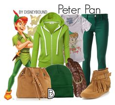 """""""Peter Pan"""" by leslieakay ❤ liked on Polyvore featuring Uniqlo, Vanessa Bruno, Jacobies, Disney, women's clothing, women, female, woman, misses and juniors"""