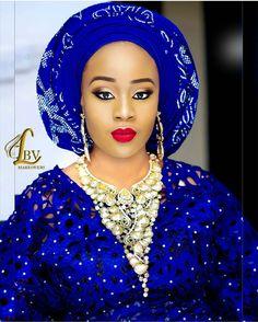 aso oke, bride,nigerian, nigeria wedding,royal blue,blue,African bride
