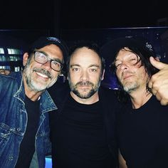 Omg!!!!!!!! 2 most fav fandoms and they are together!!!!!!! Jeffery Dean Morgan, Mark Shepard, and Norman Reedus!! ♥