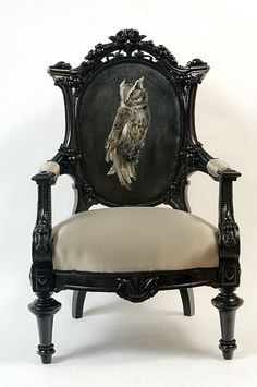 #Owl chair by Melissa Delpinto