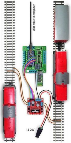 Arduino Control of Model Train N Scale Model Trains, Model Train Layouts, Train Info, Model Railway Track Plans, Electric Train Sets, Hobby Trains, Classic Toys, Models, Hobbies