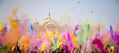 Holi, Festival of Color. I want to go to India for this so badly.