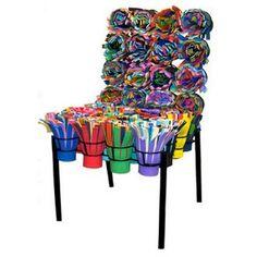 chaises design - Chaise Eleven Patchwork Colors