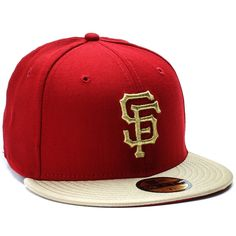 7b0c36f2062 San Francisco Giants Fitted Hat (Gold)