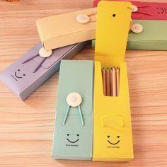Aliexpress.com: Compre Caixa de lápis bonito sorriso torre fivela de alta qualidade saco de estudante criativo caneta de plástico de cor doces para escola meninas de confiança caixa de caneta fornecedores fornecedores em New Future