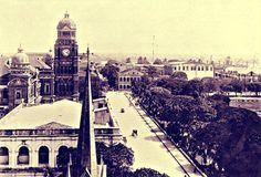 Barr Street (now Mahabandoola Garden Street) Rangoon c. 1925.