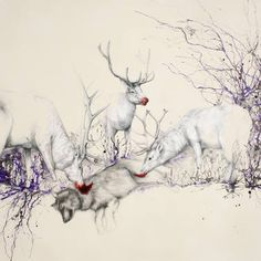 "Saatchi Art Artist Louise McNaught; Painting, ""Elementary, my deer"" #art"