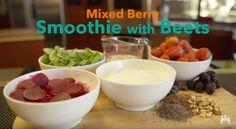 """Beet"" the Morning Slump: Mixed Berry and Beet Smoothie recipe via http://k-p.li/ffhblog"