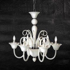 Our popular Calais chandelier is back in a white glass this season for a refreshing look. $399 #zgallerie