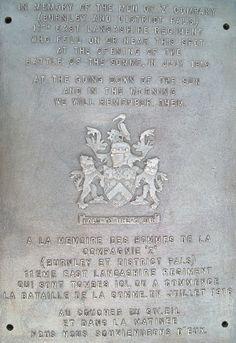 Z Company Burnley Pals Memorial