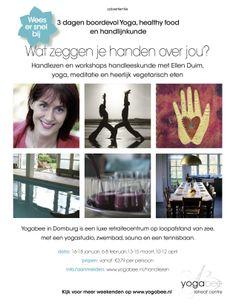 weekend Handlezen en Yoga op een schitterende locatie in Domburg. meer info: http://www.yogabee.nl/handlezen.html