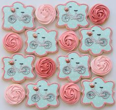 (^o^) C is for Cookie (^o^) ~ Floral bicycle cookies by Miss Biscuit | by Miss Biscuit