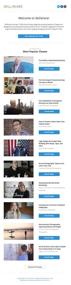 Welcome to Skillshare! - Really Good Emails Email Design, Logo Design, Welcome Emails, Best Email, Marketing, Good Job, Digital, Reading, Discovery