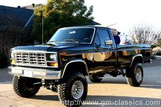 86 Ford F-250 Lifted add chrome roll bar with KC KIGHTS. ADD WARREN WINCH WITH BRUSH GUARD