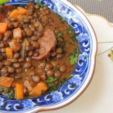 Cozido caseiro de lentilha