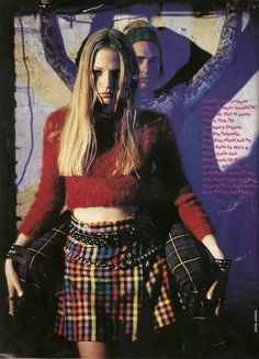 sassy magazine, april 1994 (I remember wishing I had a boyfriend to emulate this pose... And wishing I was daring enough to rock this outfit.)