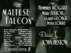 The Maltese Falcon (1941) Love this movie!