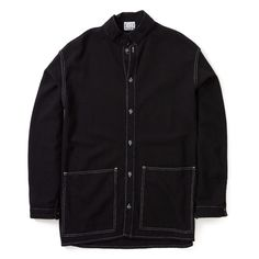 <p>Cut oversized to be worn layered and loose, the Tender Double Cuff Flat Jacket is a typically innovative design, cut from English woven black woollen blanket cloth which is both warm and durable.<br /><br />It's complete with green melamine button closure, flat cut sleeves with double opening cuffs and deep squad pockets.</p>
