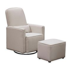 The DaVinci Olive Upholstered Swivel Glider provides a comfortable place to sit, with a gentle rocking motion, for you and baby. It features a smooth 360 swivel, upholstered ottoman, and bonus lumbar pillow. Soft, stylish fabric has accent piping.