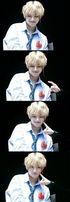That reaction when Namjoon poked him >< aw my big teddy bear🐻😋😘😚 Daegu, Kim Taehyung, Namjoon, Boy Pictures, Beautiful Moments, Taekook, Hoseok, Jimin