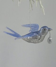 Take a look at this KD Vintage Blue Bird Ornament by KD Vintage on #zulily today!
