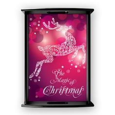 new at @CafePress : The #Magic Of #Christmas Large #Serving #Tray A wonderful #Reindeer made of white #snowflakes. The Background ist cobalt #violet #pink! Artwork by GraphicMarket!  $51.69
