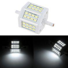 R7S 48 LEDs 15W 118mm 1300-1400LM SMD5730 AC85-265V Bulb Light Corn Lamp Floodlight Dimmable 270 degree Illumination High Brightness White