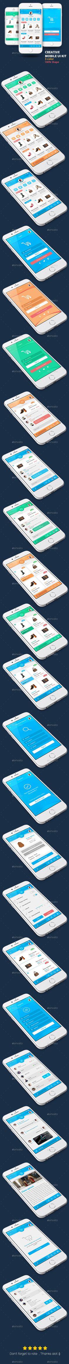 Shop Creative Mobile UI #design Download: http://graphicriver.net/item/shop-creative-mobile-ui/12616160?ref=ksioks