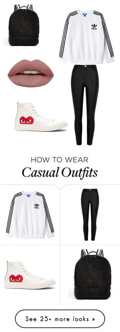 """Casual"" by tillycurtis on Polyvore featuring Play Comme des Garçons, adidas Originals, River Island and Puma"