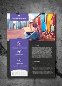 werbung Flyers/One-Pager layout for corporates. One Pager Design, Game Design, Flugblatt Design, Book Design, Flyer Layout, Brochure Layout, Brochure Design, Branding Design, Corporate Event Design