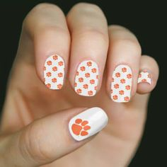 Clemson University - set includes 32 nail wraps and a nail file. Buy them today at www.shopunp.com - $12.00.