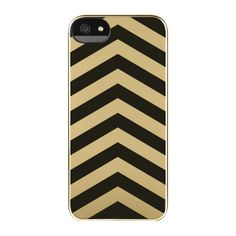 Gold and black chevron iPhone case.