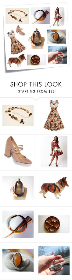 """Rerto style"" by torijaink ❤ liked on Polyvore featuring Post-It and Sergio Rossi"
