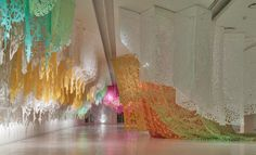 pop-up paradises - expansive cut textile installations by manuel ameztoy at Faena Arts Center, Buenos Aires, Argentina - just beautiful! Pop Up, Environmental Sculpture, Art Abstrait, Textile Artists, Installation Art, Art Installations, Three Dimensional, Decoration, Amazing Art