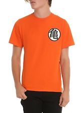NWT Dragon Ball Z T Shirt Cotton Kame Symbol Anime Unisex Adult ORANGE 2X-Large